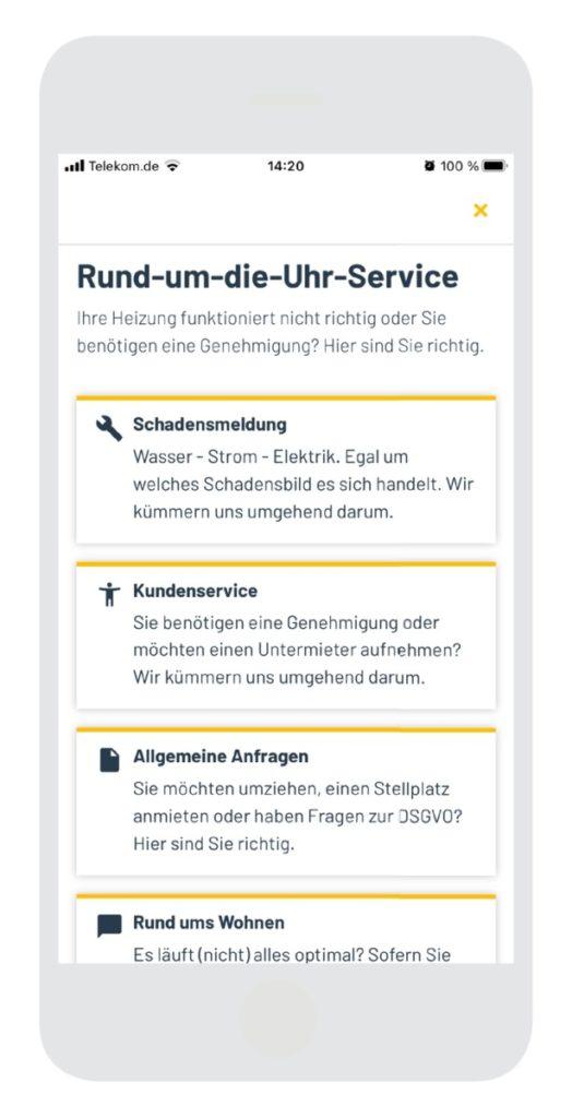IWM-Aktuell swsg-screen-Anliegenmelder-524x1024 Alles dabei: Die neue SWSG-MieterApp Aktuelles Allgemein Aus der Branche  Wohnungswirtschaft SWSG MieterApp Datatrain