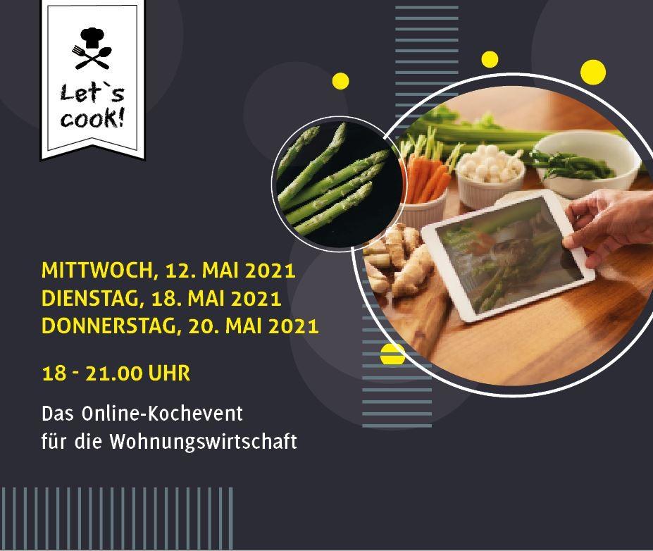 IWM-Aktuell HEader_LetsCook Let`s cook – neues kulinarisches Online-Happening Aktuelles Allgemein Let`s Cook  Wohnungswirtschaft Online-Event networking