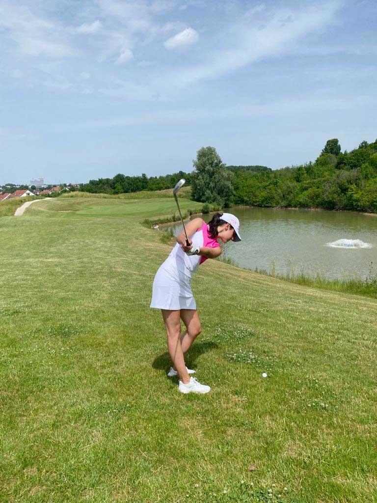 IWM-Aktuell Sandrine_Platzreife Event-Queen Sandrine macht Platzreife Aktuelles Allgemein Baden-Württemberg WOWI-Golftour